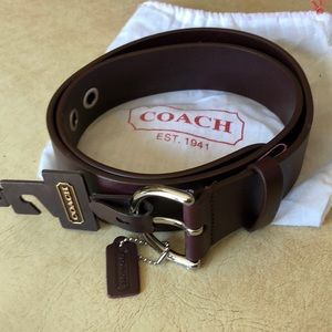 Coach belt. New with tags. Red wine color